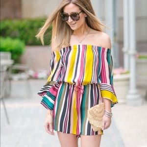 Express Striped Romper